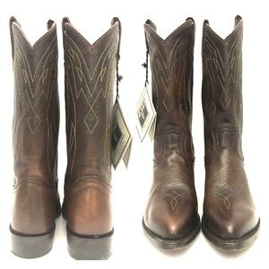 NEW Frye Bench Cobbled Brown Western Boots Size 6